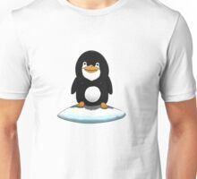 Penguin standing on ice Unisex T-Shirt