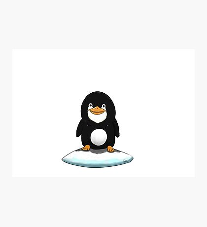 Penguin standing on ice Photographic Print