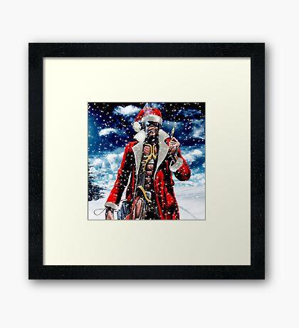 IRON MAIDEN FOR CHRISTMAS SANTA Framed Print