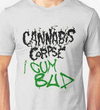 Cannabis Corpse - I Cum Bud (Fanmade Merch, Black letters) Unisex T-Shirt