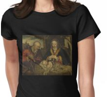 Nativity in Golden Hues Womens Fitted T-Shirt