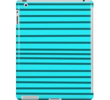 Blue & Gray Stripped Background iPad Case/Skin