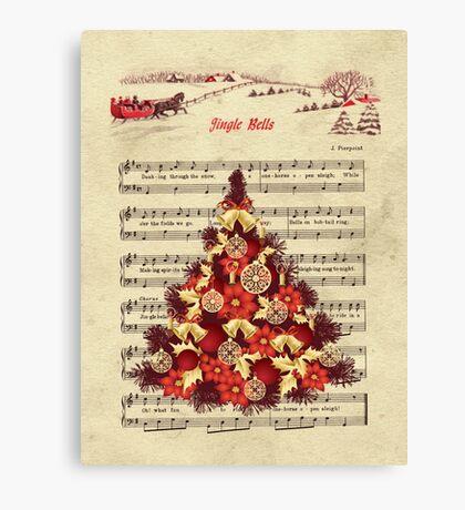 Christmas Tree Jingle Bells Canvas Print