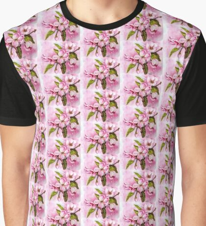 DELICATE PINK APPLE BLOSSOMS Graphic T-Shirt