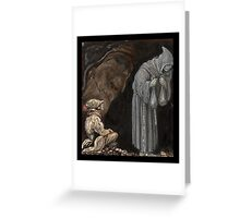 Mystery Figure in Hooded Cloak Greeting Card