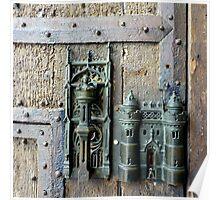 Town gate lock Poster