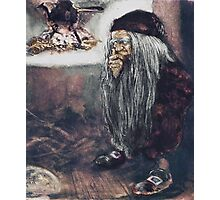 Tomte or Troll by the Fire Photographic Print