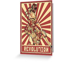 Big Boss Revolution Greeting Card