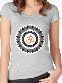 OM Namaste Yoga Prana Graphic T Shirt & Products Women's Fitted Scoop T-Shirt