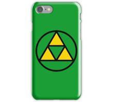 Tri-force in a circle iPhone Case/Skin