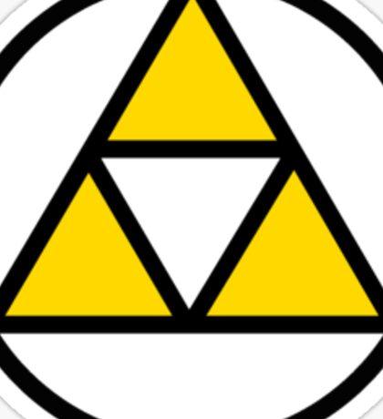 Tri-force in a circle Sticker