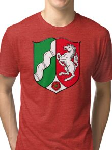 Green and Red Horse Crest Tri-blend T-Shirt