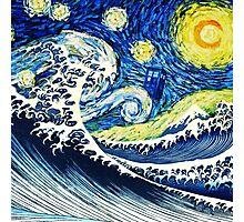 Starry Night Tardis Photographic Print