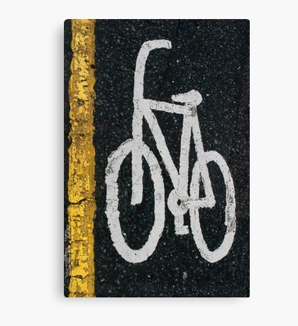 Bicycle road mark Canvas Print
