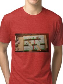 Video Game Theme Department Goal chart Tri-blend T-Shirt