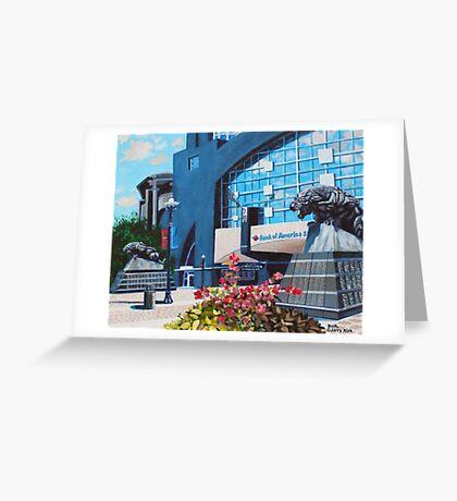 'PANTHERS STADIUM'  Greeting Card