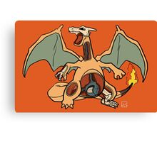 Charizard Anatomy Canvas Print