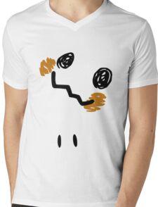 Mimikyu Face Tilted w Eyes - Pokemon Mens V-Neck T-Shirt