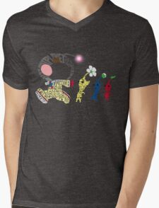Olimar Typography Mens V-Neck T-Shirt
