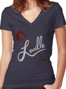 lucille - twd Women's Fitted V-Neck T-Shirt