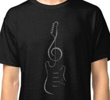 Treble Clef Guitar Classic T-Shirt