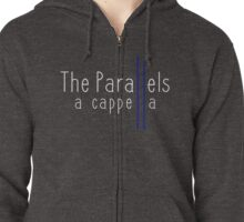 The Parallels White Logo Zipped Hoodie