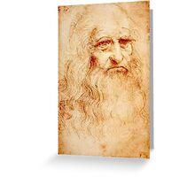 Da Vinci Self Portrait Greeting Card