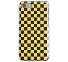 Yellow Taxi Checkerboard Pattern Uber iPhone Case/Skin