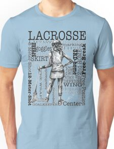 Word Montage-LACROSSE (Female-Border) Unisex T-Shirt