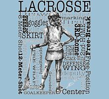Word Montage-LACROSSE (Female-Border) Womens Fitted T-Shirt