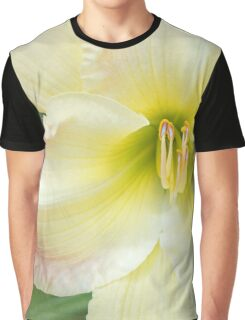 Yellow Folds and Pistils Graphic T-Shirt