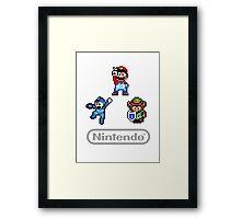 Nintendo Shirt - Mario, Zelda, Megaman Framed Print