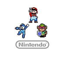 Nintendo Shirt - Mario, Zelda, Megaman Photographic Print