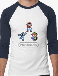 Nintendo Shirt - Mario, Zelda, Megaman Men's Baseball ¾ T-Shirt