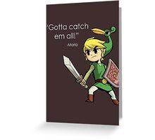 Childhood Destruction (Pokemon, Zelda, Mario) Greeting Card