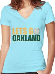 To The Playoffs Women's Fitted V-Neck T-Shirt