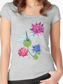 Patterns of a Pond Women's Fitted Scoop T-Shirt