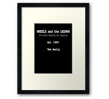 Wheels and the Legman Framed Print