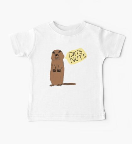 Dat's Nuts Squirrel Baby Tee