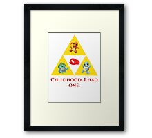 Tri-Force of Awesome (Zelda, Pokemon, Mario) Framed Print