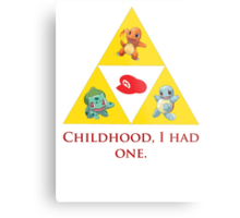 Tri-Force of Awesome (Zelda, Pokemon, Mario) Metal Print