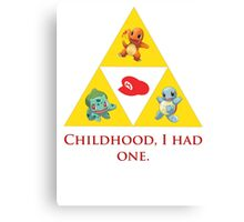 Tri-Force of Awesome (Zelda, Pokemon, Mario) Canvas Print
