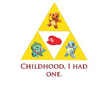 Tri-Force of Awesome (Zelda, Pokemon, Mario) Photographic Print