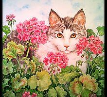 Baby Blossom Kitten by BDMillustration