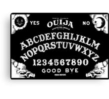 Ouija-White Canvas Print
