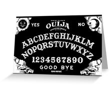 Ouija-White Greeting Card