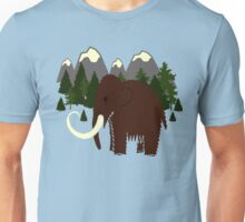 Woolly Mammoth - MouNtains, Trees, Evergreen, Blue Skies, Sky,  Unisex T-Shirt