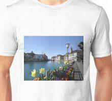 the lake view.... Unisex T-Shirt