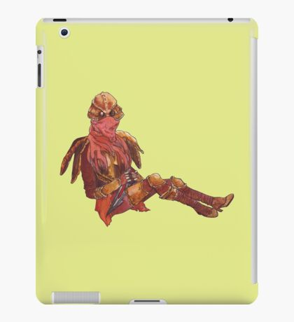 Dunmer in chitin armor - on lime iPad Case/Skin