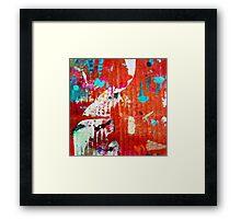 7 DAYS OF SUMMER-URBAN RED&ORANGE SPLASH CANVAS Framed Print